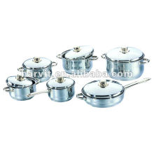 Ensembles de casseroles en sauce en acier inoxydable poli