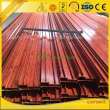 Fábrica de extrusão de alumínio Foshan Perfil de extrusão de alumínio de madeira