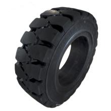 Neumático macizo para carretilla elevadora 28x9-15 con orificio lateral
