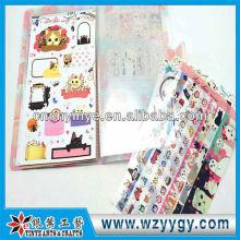 2013 фантазии пластиковые печати кошка наклейка с крышкой для детей