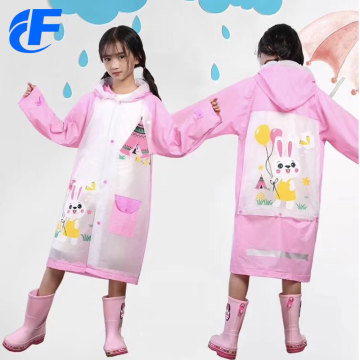 PVC Long Waterproof Yellow Raincoat
