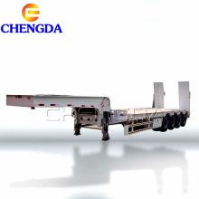 4 Axles lowbed semi trailer
