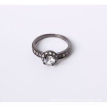 Black Color with Crystal Rhinestone Jewelry Ring