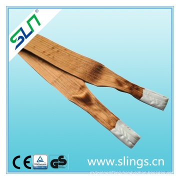 6t*8m Polyester Double Eye Webbing Sling Safety Factor 5: 1