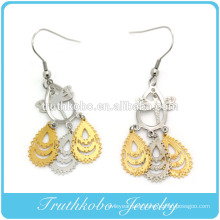 Wholesale Laser Cut Different Color Dragonfly Design Stainless Steel Dangle Earrings Design For Women