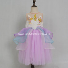 JannyBB unicorn hand embroidery baby girl dresses