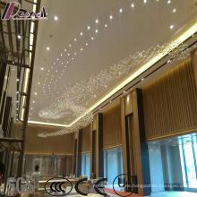 Moderne Luxus Kristall Squar Pentand Lampe mit Projece Hotel
