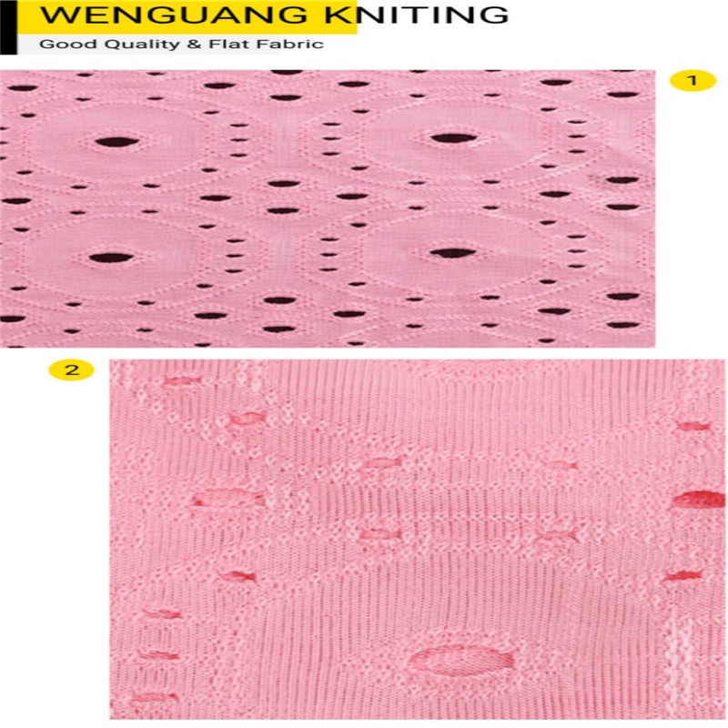 knitted embroidery fabric
