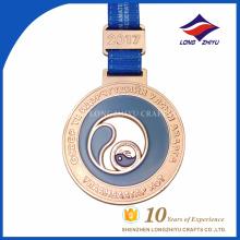 2017 Design your own custom Metal medal production zinc alloy blank gold award .