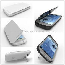 Branco / preto caso de energia 3200mAh para Samsung Galaxy S3 III i9300