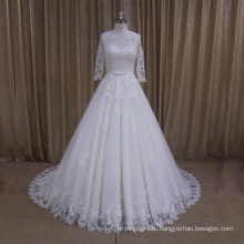 Ak003 Высокое Качество Красивые Кружева Свадебное Платье Четверти Рукава
