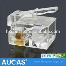 Cat6 UTP IDC modulare Buchse 8P8C RJ45 geschirmt 90 Grad toolless Keystone Buchse / systimax vergoldeter modularer Stecker