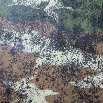 Diseño de camuflaje de 4 colores para cuero de tapicería (QDL-53225)