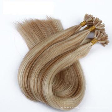 Preço de fábrica duplo extraído U ponta remy cabelo extensões