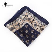 Pañuelo cuadrado de bolsillo de impresión digital de moda personalizada