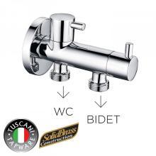 Аксессуары для смесителей для ванной Многофункциональный латунный угловой клапан с двумя ручками