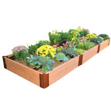 Waterproof Modern Design WPC Planter Pots DIY Flower Bed Composite Flower Pots