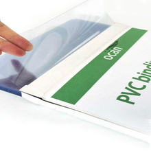 A4 size 120micron plastic binding cover clear PVC sheet for book cover