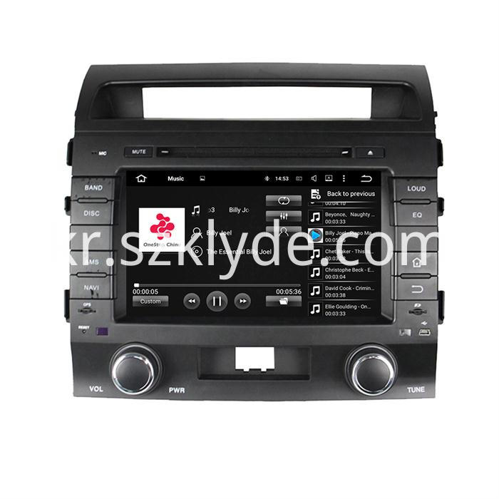 Android car stereo player for Land Cruiser 200