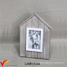 Small Wood Farmstead Chic House Shaped Photo Frame