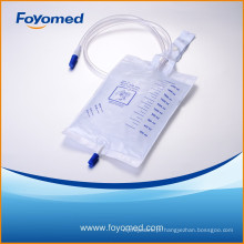 Grande qualidade 2000ml saco de urina de luxo com CE, certificação ISO