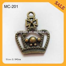 MC201 encantos del metal encanto del cordón del metal / encanto del cordón para la decoración del zapato
