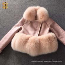 Nuevas mujeres de cuero de imitación de la piel de las ovejas de la piel llegada para la ropa de moda del invierno