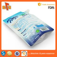 Impressão personalizada reutilizável stand up bico saco de detergente líquido 400ml