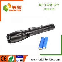 Factory Supply 2 * 18650 batterie au lithium multifonction Beam réglable 10W cree xml t6 High Power led Flashlight Rechargeable