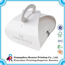 Papel de arte que imprime la caja de papel de encargo de la panadería para los zapatos