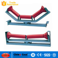 Belt Conveyor Tapered Plastic Rubber Pulley Carrying Roller Idler