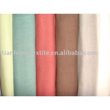 100% algodão dupla camada pano de tecido de camisa de vestido tingido