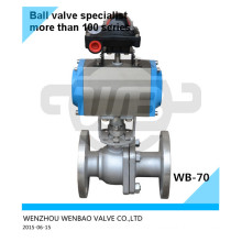 """304L Air Actuated Two-Way Flange Ball Valve 11/2"""" 150#"""