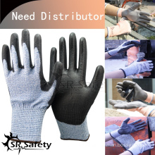 SRSAFETY 13 gauge Knitted PU Palm Cut Resistant Gloves/working gloves importers in USA