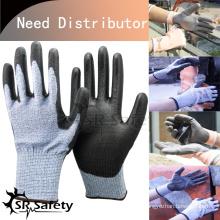 SRSAFETY 13 калибровочные трикотажные PU пальмоустойчивые перчатки / рабочие перчатки импортёры в США