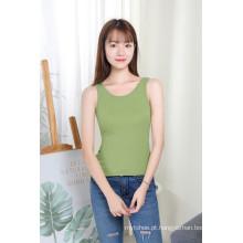 Mulheres sem mangas com pescoço redondo