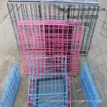 Casa animal do animal de estimação da gaiola da gaiola de rede de arame dobrável da gaiola