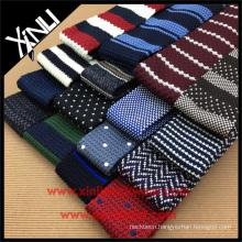 Perfect Knot Wholesale Orange Purple Silk Knitted Mens Slim Ties