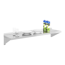 Two Brackets Commercial Stainless Steel Wall Mount Shelf