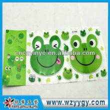 Popular etiqueta engomada para la decoración, nueva etiqueta engomada de encargo del PVC
