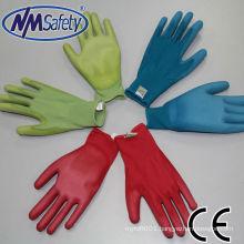 NMSAFETY garden gloves women glove colorful pu garden gloves