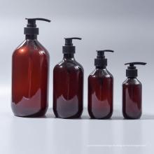 Botella redonda ambarina del champú de la loción del animal doméstico de Boston (EF-PL07)