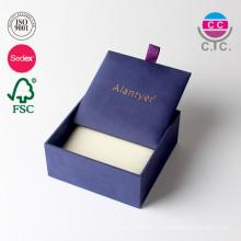 Boîte en carton d'emballage de carton cadeau personnalisé en cuir