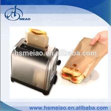 Alta tepreture resistência PTFE marrom toasty saco