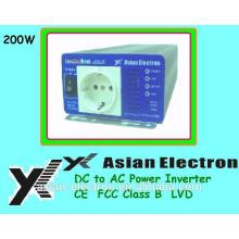 Salida de una fase 12VDC 200W inversor 120VAC 60Hz