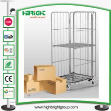 Chariot pliable de conteneur de petit pain de sécurité de stockage de blanchisserie de Logisitc