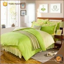 Ensemble de literie coloré brillant en tissu brossé luxueux pour usage domestique