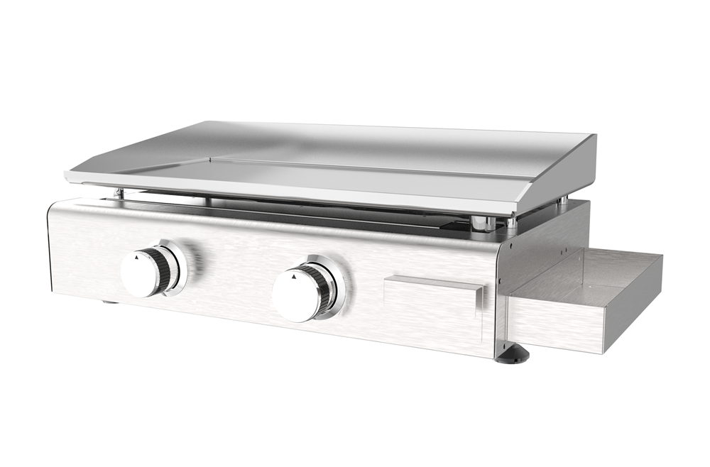 Stainless Steel 2 Burner Griddle