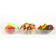 PP / PS Discos de plástico plato desechable Ronda 3 Bandeja de compartimiento