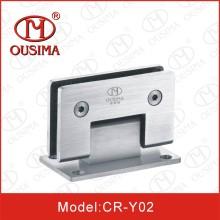 Bisagra de puerta de ducha de hardware de cristal de acero inoxidable (CR-Y02)